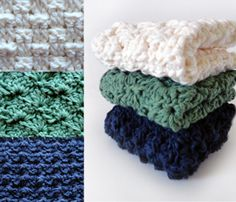 Crochet Spot » Blog Archive » Crochet Pattern: Sampler Washcloth Set - Crochet Patterns, Tutorials and News