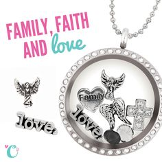 Family, faith and love all in one  Origami Owl lockets   www.jessicachastain.origamiowl.com www.facebook.com/jessicachastainorigamiowl
