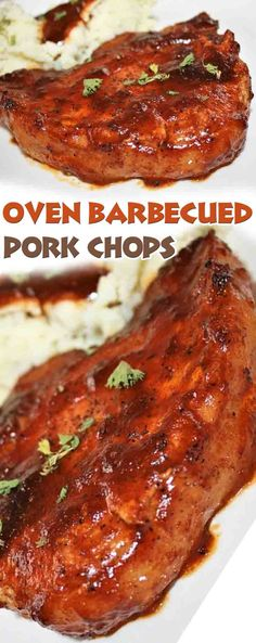 Grilled or slow cooked, breaded or barbecued, these top-rated pork chop recipes make dinner delicious! Barbecue Pork Chops, Pork Ribs, Bbq Porkchops In Oven, Cooking Boneless Pork Chops, Oven Baked Pork Chops, Pork Bacon, Pork Meat, Grilled Meat, Pork Chop Dinner