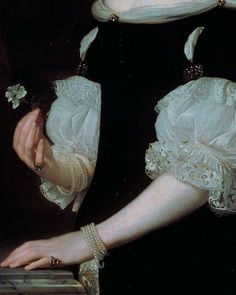 Portrait of a Woman (detail) by Abraham Lambertz van den Tempel (1670)