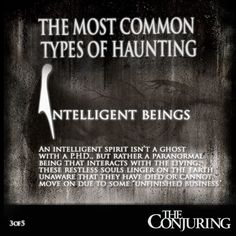 The Conjuring (2013) The 5 Most Common Types of Haunting #TheConjuring #film