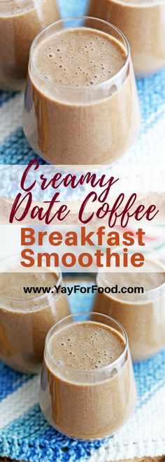 Date Coffee Breakfast Smoothies Creamy and delicious Start your morning with this refreshing coffee and date smoothie that will give you a healthy energy boost for the da. Smoothie Packs, Smoothie Fruit, Blackberry Smoothie, Apple Smoothies, Date Smoothie Recipes, Smoothie Menu, Turmeric Smoothie, Smoothies With Almond Milk, Protein Smoothies