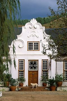 Morgenster Somerset West in Cape Town - home to one of the top 10 olive oil in the world. Dutch House, Dutch Door, South African Homes, Cape Dutch, Somerset West, Dutch Colonial, Exterior Makeover, West Indies, Beautiful Buildings