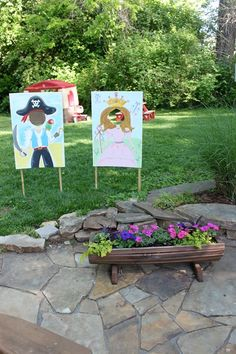 Princess and Pirate birthday party - photo props
