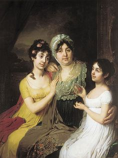 Portrait of Countess A. I. Bezborodko with her daughters | Vladimir Borovikovsky (1803)