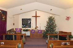 Focus on Christmas 2013 - Our Chancel during Advent Christ The King, Lutheran, Christmas Tree, Christmas Ornaments, Advent, Ohio, Display, Holiday Decor, Home Decor