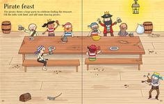 """Pages from """"First Sticker Book: Pirates"""" at www.usborne.com/pirates  #pirates #children #books #Usborne #illustration"""