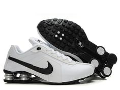 san francisco ed61e ba40b Mens Nike Shox R4 White Black Grey- 77.80 Mens Nike Shox, Nike Shox Shoes