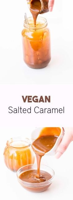Vegan Salted Caramel - Delicious salted caramel recipe that is easy to make and tastes exactly like normal salted caramel. Made with coconut milk and coconut sugar.