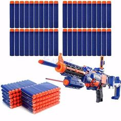 PCS Refill Foam Darts For Nerf N-strike Elite Series Blasters Bullets. - Soft Darts for Nerf N-strike Elite Rampage/Retaliator Series Blasters. Note: Bullets only, Toy Gun not included! All Nerf Guns, Pistola Nerf, Nerf Mod, Darts, Manners, Cool Toys, Decoration, Kids Toys, Bullet
