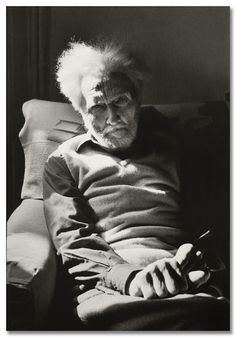 Henri Cartier-Bresson:  Ezra Pound. Venecia, 1971. A brilliant literary stylist but deeply compromised by his antisemitism.