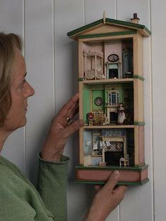 Gale Elena Bantock - Miniaturist. I may never have a complete house of my own, but I would love to have one or two of these.
