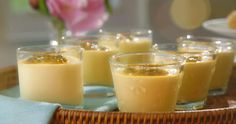 Mary Berry passion fruit pots with sweet lemon crisps recipe on Mary Berry