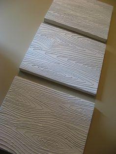Hot glue faux wood grain