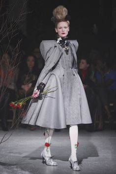 Putting some welcome couture back into runway shows. (Thom Browne RTW Fall 2013 - Slideshow - Runway, Fashion Week, Reviews and Slideshows - WWD.com)