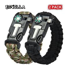 This survival paracord is designed in bracelet style which ensures that you can wear it easily. Simply slide to lock or take off. It is a must carry on survival gear when you go camping hiking fishi...