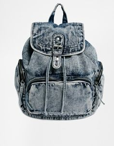 Image 1 of New Look Acid Denim Backpack