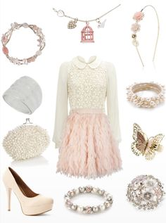 I'm sure I just fell in love! Only I wouldn't wear the headband, and I'd only use one ring one bracelet : )