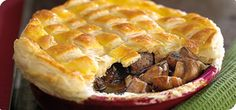 Slimming Steak and mushroom pie – Recipes – Slimming World - We guarantee that the rich flavour and crisp pastry make it well worth the wait! Slimming World Dinners, Slimming World Diet, Slimming Eats, Slimming World Recipes, Steak And Mushroom Pie, Steak And Mushrooms, Pie Recipes, Cooking Recipes, Cooking Time