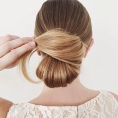 """We're kicking off """"award season"""" with a CLASSIC! Get in on the red carpet fun. This chignon is done in 5 steps and can be done on any texture. {post by @kristin_ess, link up top}"""