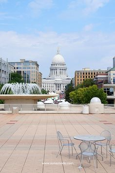 Madison, Wisconsin (USA) view from Monona Terrace rooftop