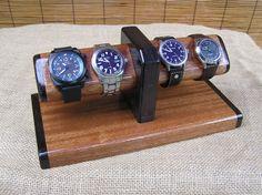Watch Stand Mens Valet Watch Display by OnondagaHillWoodwork