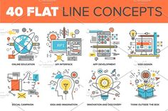 Flat Line Concepts by vasabii on @creativemarket