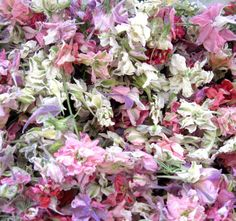 4 Cups Pastel Confetti Wedding Flowers Dried by LarkspurHill, $28.00