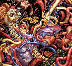 Journey of the Wounded Healer - Alex Grey Alex Grey, Alex Gray Art, Visionary Art, Skull And Bones, Psychedelic Art, Types Of Art, Cool Artwork, Dark Art, Amazing Art