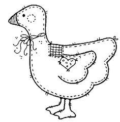 Artesanatos e bordados: Galinhas em moldes de galinhas em patchwork