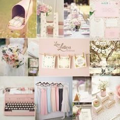 pretty pastels wedding mood board called 'love letters'