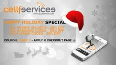"""The Cellfservices.com Team is wishing you Happy Holidays and saying Thank You for the brilliant support all over the last year! Make sure to check our """"Happy Holidays SPECIAL"""" from today until 31st of December!"""