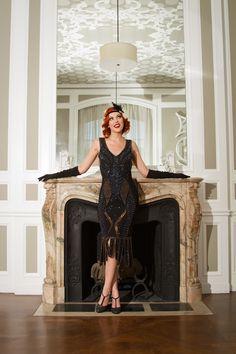 Deco Details are all you need - Shop Unique Vintage Flapper Dresses!