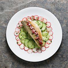 Rezept von Tamasin Day-Lewis: Makrele mit hausmarinierten Radieschen und Gurken
