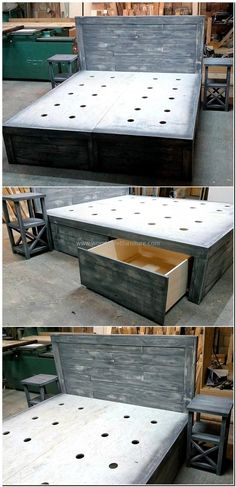 upcycled pallet bed