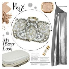 """Najé Fashion"" by gaby-mil ❤ liked on Polyvore featuring Bobbi Brown Cosmetics, River Island, Chantecaille, Clutch, rhinestone and najefashion"