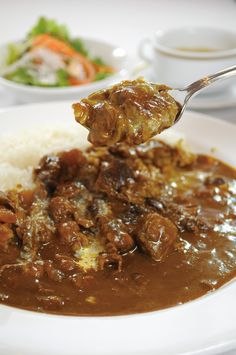 Japanese Curry, Japanese Food, Curry Stew, Cafe Menu, Looks Yummy, Rice Dishes, Junk Food, Cravings, Food And Drink