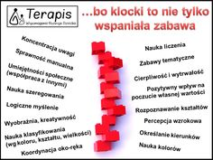 Klocki a rozwój Education, Baby, Speech Language Therapy, Therapy, Babies, Infant, Learning, Teaching, Child