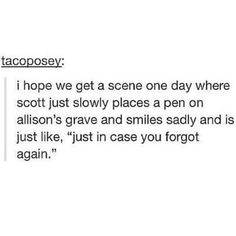Oh my god. All of these Scallison memories are getting to me. Crying again.