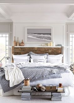 How to design a neutral and serene master bedroom.