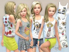 Tank Top Collection for Girls P02 Found in TSR Category 'sims 4 Female Child Everyday'