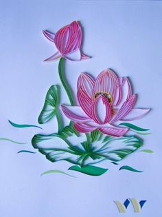 59 Best Quilling Flowers Lotus Water Lilies Images In 2016