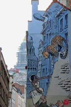 ❤ #Streetart / #Hergé / #TinTin / #Cartoons / #BrusselsLife / www.brusselslife.be / #HapAppBrussels /  #ErfgoedBrussel / #ErfgoedBelgië / #IkbenBrussel / #IkbenBelg / #TrotseBelgen / #ProudBelgians / #ILikeBelgium / #BelgiumIsBeautiful / #Belgientourismus    ❤