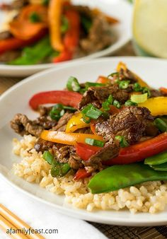 Beef Teriyaki and Vegetables | AFamilyFeast.com | #SimpleStart