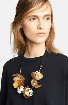 Marni Floral Necklace on Ribbon