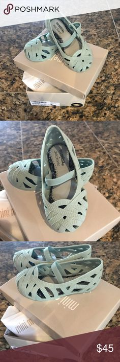 Mini Melissa Mini Jean + Jason Wu Ballet Flats Mint (Baby) Green - Toddler Mini Melissa Shoes Baby & Walker