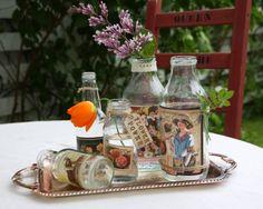 vases from old bottles - Ihan Kaikki Kotona