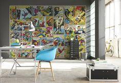 Photo Wall Decal photographie murale papier peint Marvel héros de bande dessinée Spider-Man, Captain America, les Vengeurs, Hulk Art Stickers muraux enfants by ArtDivine4U on Etsy