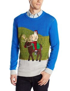 A sweater that sees Santa in a new light.