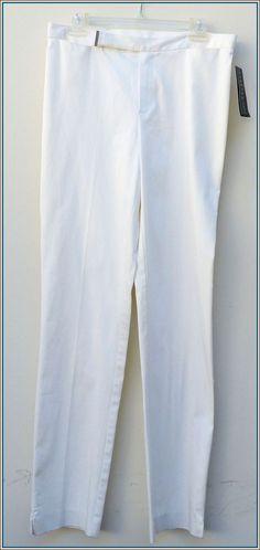RALPH LAUREN   White   DORCHESTER LINE  Size 8   POLO  Pants  Slacks   #RalphLauren #Slacks